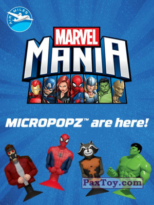 PaxToy 2017 Air Miles and Marvel Mania (Micropopz) logo tax
