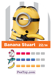 PaxToy.com - 22 Banana Stuart (Сторна-back) из REWE: Minions Cards