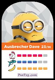 PaxToy.com - 23 Ausbrecher Dave (Сторна-back) из REWE: Minions Cards