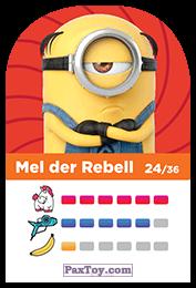 PaxToy.com - 24 Mel der Rebell (Сторна-back) из REWE: Minions Cards