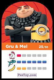 PaxToy.com - 25 Gru & Mel (Сторна-back) из REWE: Minions Cards