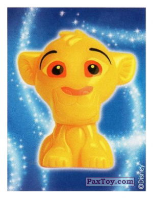 PaxToy.com  Наклейка / Стикер 25 Simba - The Lion King (Sticker) из REWE: Die Disney Wikkeez Stickers