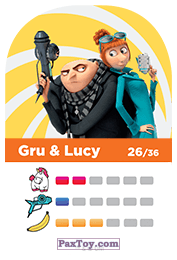 PaxToy.com - 26 Gru & Lucy (Сторна-back) из REWE: Minions Cards