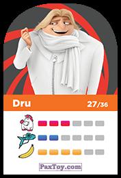PaxToy.com - 27 Dru (Сторна-back) из REWE: Minions Cards