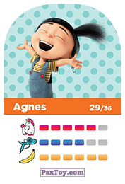 PaxToy.com - 29 Agnes (Сторна-back) из REWE: Minions Cards