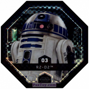 PaxToy.com - #3 R2-D2 Foil из Winn-Dixie: Star Wars Cosmic Shells