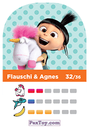 PaxToy.com - 32 Flauschi & Agnes (Сторна-back) из REWE: Minions Cards