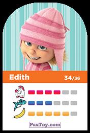 PaxToy.com - 34 Edith (Сторна-back) из REWE: Minions Cards