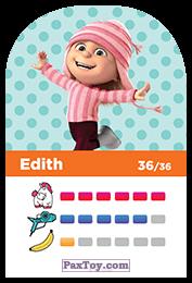 PaxToy.com - 36 Edith (Сторна-back) из REWE: Minions Cards