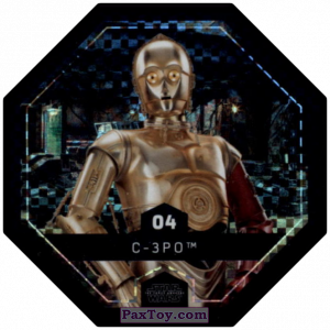 PaxToy.com - #4 C-3PO Foil из Bi-Lo: Star Wars Cosmic Shells