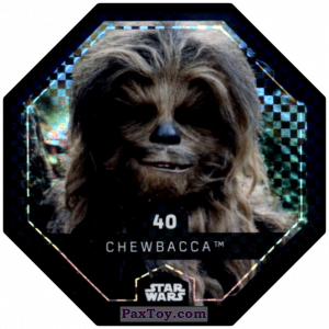 PaxToy.com - #40 Chewbacca Foil из Bi-Lo: Star Wars Cosmic Shells