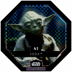 PaxToy.com - #41 Yoda Foil из Bi-Lo: Star Wars Cosmic Shells