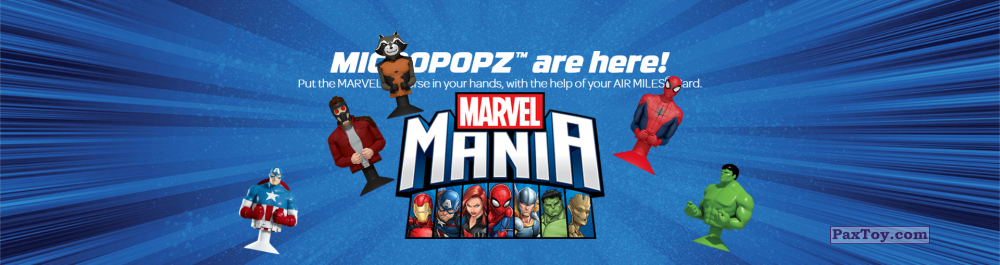 PaxToy Air Miles 2017 Marvel Mania (Micropopz) 01