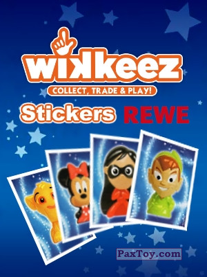 PaxToy REWE: Die Disney Wikkeez Stickers