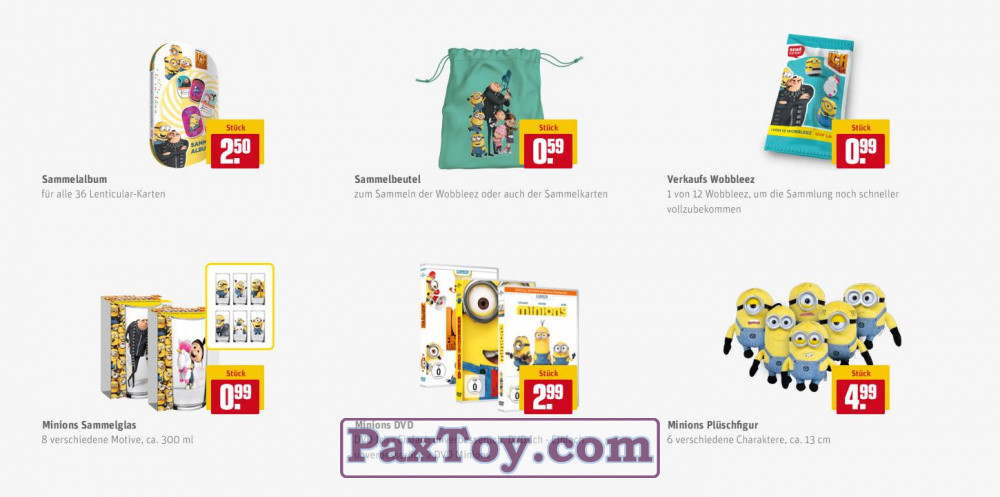 PaxToy REWE 2017 Minions
