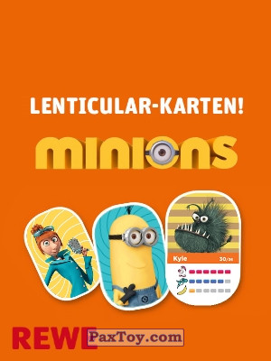 PaxToy REWE 2017 Minions Cards logo tax