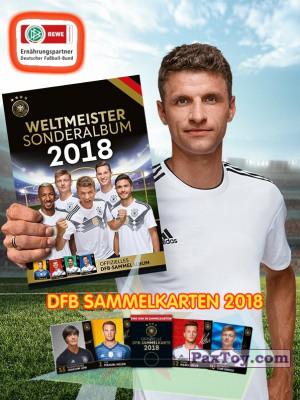 PaxToy REWE   2018 DFB Sammelkarten 2018 logo tax