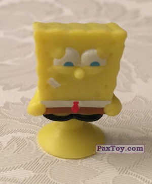PaxToy.com - 03 SpongeBob Two Teeth on Left Side из Salati Preziosi: SpongeBob Stikeez