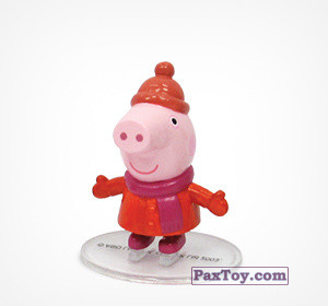PaxToy.com - 06 Свинка Пеппа из Choco Balls: Свинка Пеппа. Зима