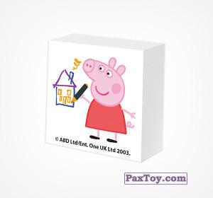 PaxToy.com - 13 Ластик - Свинка Пеппа рисует домик из Choco Balls: Свинка Пеппа. Зима