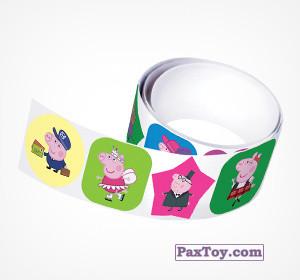 PaxToy.com - 15 Наклейки Свинка Пеппа из Choco Balls: Свинка Пеппа. Зима
