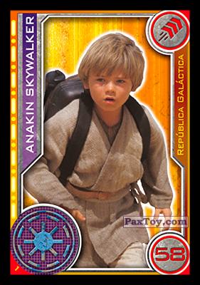 PaxToy.com - 001 Anakin Skywalker из Topps: Star Wars El Camino De Los Jedi from Carrefour