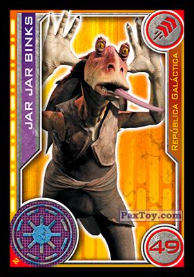 PaxToy.com - 002 Jar Jar Binks из Carrefour: Star Wars El Camino De Los Jedi (Cards)