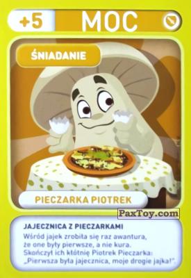PaxToy.com - 002 Pieczarka Piotrek (Sniadanie) из Biedronka: Gang Swieżaków 1 - Karty i Naklejki