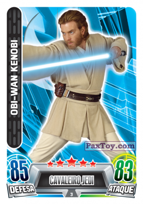 PaxToy.com - 003 Obi Wan Kenobi из Topps: Star Wars Force Attax Heroes y Villanos from Continente