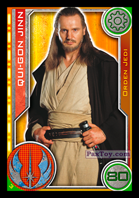 PaxToy.com - 003 Qui-Gon Jinn из Carrefour: Star Wars El Camino De Los Jedi (Cards)