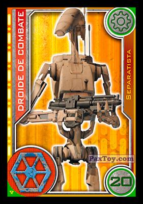 PaxToy.com - 004 Droide De Combate из Topps: Star Wars El Camino De Los Jedi from Carrefour
