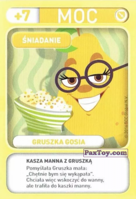 PaxToy.com - 004 Gruszka Gosia (Sniadanie) из Biedronka: Gang Swieżaków 1 - Karty i Naklejki