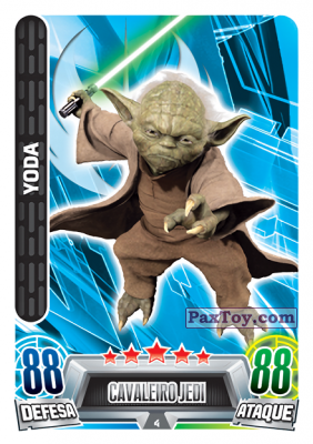 PaxToy.com - 004 Yoda из Topps: Star Wars Force Attax Heroes y Villanos from Continente