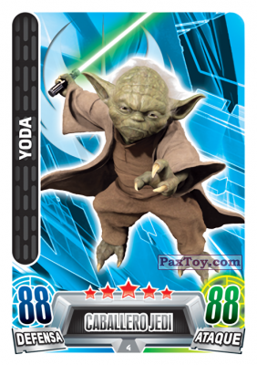 PaxToy.com - 004 Yoda из Carrefour: Star Wars Heroes y Villanos Force Attax