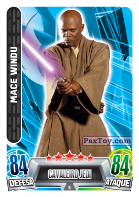 PaxToy.com - 005 Mace Windu из Topps: Star Wars Force Attax Heroes y Villanos from Continente