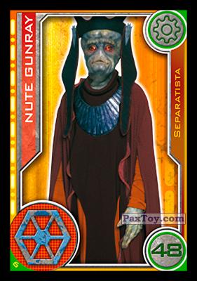 PaxToy.com - 006 Nute Gunray из Topps: Star Wars El Camino De Los Jedi from Carrefour