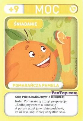 PaxToy.com - 006 Pomarancza Pamela (Sniadanie) из Biedronka: Gang Swieżaków 1 - Karty i Naklejki