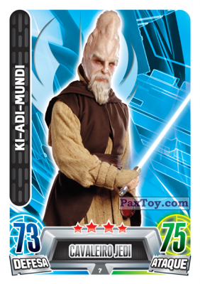 PaxToy.com - 007 Ki-Adi Mundi из Topps: Star Wars Force Attax Heroes y Villanos from Continente