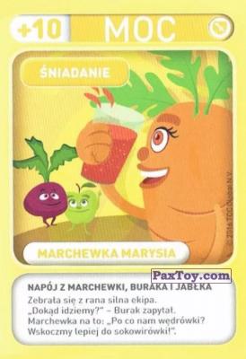 PaxToy.com - 008 Marchewka Marysia (Sniadanie) из Biedronka: Gang Swieżaków 1 - Karty i Naklejki