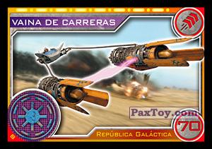 PaxToy.com - 008 Vaina De Carreras из Topps: Star Wars El Camino De Los Jedi from Carrefour