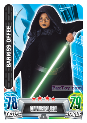 PaxToy.com - 009 Bariss Offee из Topps: Star Wars Force Attax Heroes y Villanos from Continente