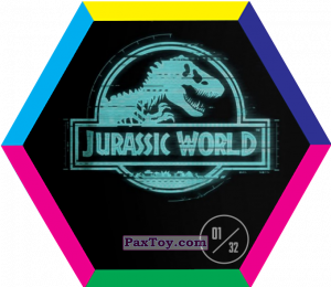 PaxToy.com - 01 Blue Velociraptor (Сторна-back) из Carrefour: Jurassic World