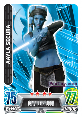 PaxToy.com - 010 Aayla Secura из Topps: Star Wars Force Attax Heroes y Villanos from Continente