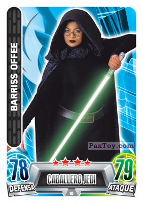 PaxToy.com - 010 Barriss Offee из Carrefour: Star Wars Heroes y Villanos Force Attax