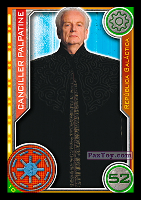 PaxToy.com - 010 Canciller Palpatine из Topps: Star Wars El Camino De Los Jedi from Carrefour