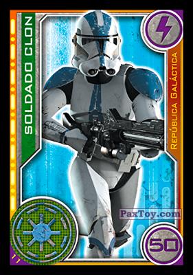 PaxToy.com - 011 Soldado Clon из Topps: Star Wars El Camino De Los Jedi from Carrefour