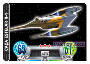 PaxToy.com - 013 Caca Estelar N-1 из Topps: Star Wars Force Attax Heroes y Villanos from Continente