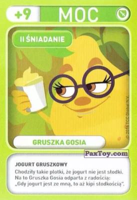 PaxToy.com - 013 Gruszka Gosia (II Sniadanie) из Biedronka: Gang Swieżaków 1 - Karty i Naklejki