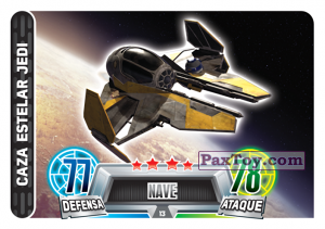 PaxToy.com - 013 Jedi Starfighter из Carrefour: Star Wars Heroes y Villanos Force Attax
