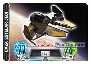PaxToy.com  Карточка / Card 013 Jedi Starfighter из Carrefour: Star Wars Heroes y Villanos Force Attax